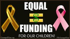 We DEMAND equal funding #BeBoldGoGold #ChildhoodCancer
