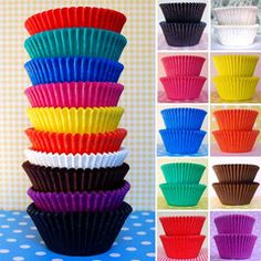 Floral and Gingham Greaseproof Cupcake Cases 80 Pack