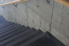 Til DR Byen har vi leveret trappetrin med markering i sort beton Stairs, Home Decor, Stairway, Decoration Home, Room Decor, Staircases, Home Interior Design, Ladders, Home Decoration