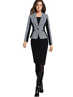 Womens Long Sleeve Lace Blazer Suit Casual Jacket Coat Outwear Black M *** For more information, visit image link.