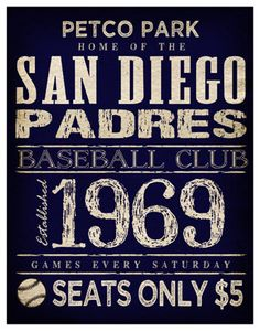 San Diego Padres Print   11x14  Petco Park Poster  by TheLemonPeel, $22.00