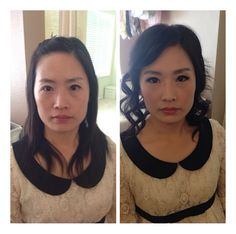 Before after makeup and hair by Jentsui @ www.jentsuimakeup.com