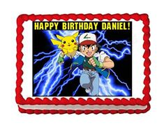 POKEMON party edible cake image cake topper frosting sheet * To view further for this item, visit the image link.(This is an Amazon affiliate link)