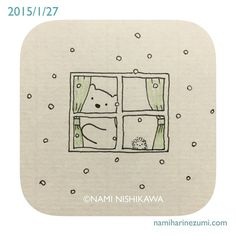 """なみはりねずみ (@namiharinezumi) on Instagram: """"397 #illustration #hedgehog #polarbear #イラスト #ハリネズミ #シロクマ #illustagram"""""""