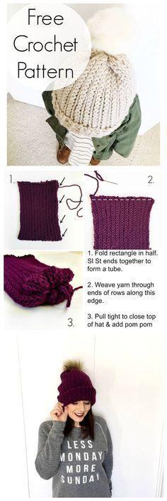 The Best Slouchy Hat Crochet Pattern For Beginners Video Tutorials