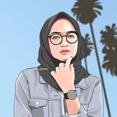 Fiverr freelancer will provide Portraits & Caricatures services and draw realistic , vector portrait illustration from your photo a birthday gift including Figures within 5 days Cartoon Photo App, Girl Cartoon, Cartoon Art, Hijab Outfit, Beautiful Hijab Girl, Hijab Drawing, Line Art Vector, Islamic Cartoon, Caricature