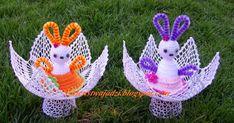 Oj działo się działo w ostatnim tygodniu, ale mamy to już za sobą :) Pokażę teraz co jeszcze zrobiła, ale nie są to wszystkie prace, jak zw... Crochet Gifts, Easter Baskets, Easter Crafts, Easter Eggs, Projects To Try, Christmas Ornaments, Holiday Decor, Ideas, Diy