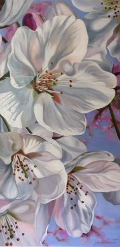 Beautiful Flowers Pictures, Flower Pictures, Magnolia Flower, Mixed Media, Valentines, Watercolor, Acrylics, Spring, Floral