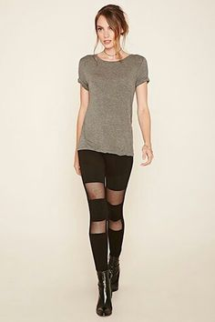Forever21.com contemporary leggings $17.90