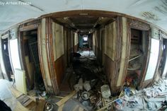 Inside the Bulgaria, a Russian river cruise ship that sank in 2011.