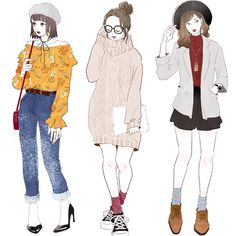 Fashion design illustration how to add pattern effect – fashion illustratio Fashion Illustration Sketches, Fashion Sketchbook, Fashion Design Sketches, Fashion Drawings, Anime Outfits, Girl Outfits, Cute Outfits, Fashion Outfits, Fashion Art