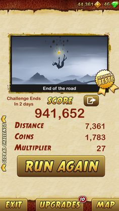 I got 941652 points while escaping from a Giant Demon Monkey. Beat that! http://bitly.com/TempleRun2iOS