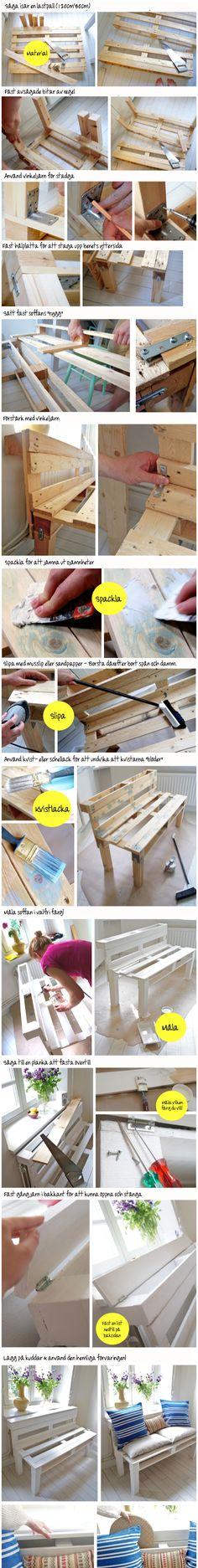 Bygg en kökssoffa av en lastpall (how to make a pallet sofa) - Byggtips från #Byggmax