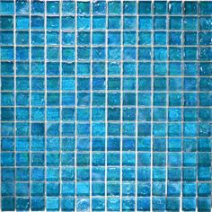 "Turquoise, 3/4"" x 3/4"" - Glass Tile"