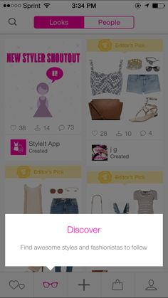 Coach marks and tooltips. Styleit app