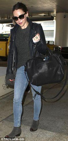 Emilia Clarke + bag
