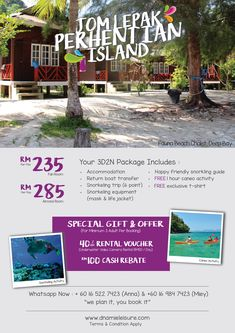 Pulau Perhentian - Fauna Beach Chalet Packages Snorkeling, Special Gifts, Islands, Packaging, Boat, Activities, Life, Diving, Dinghy