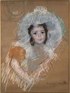 Margot Lux with a wide hat by @m_cassatt #impressionism