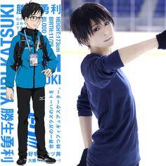 Yuri!!! On Ice Katsuki Yuri Cosplay Full Wig With Cap Men'S Black Short Straight