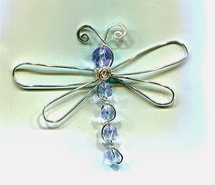 WireWorkers Guild - How to make a wire & bead dragonfly. #Wire #Jewelry #Tutorials