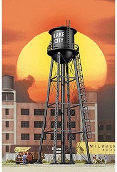 Walthers Cornerstone HO Scale Building/Structure City Water Tower Built-ups #WalthersCornerstone