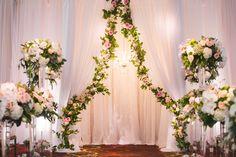 Julia   Ben: Elegant Floral Wedding. Wedding Ceremony, Altar