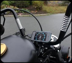 Connect your iPod touch or iPhone to your Harley-Davidson motorcycle? There's an app for that! This app requires a GaugeFace™ Hardware Adapter to connect to your Harley. Check out http://gaugeface.com/ for more info.
