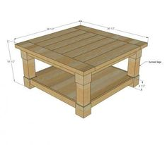 Square Coffee Table Blueprint