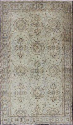 """KEIVAN WOVEN ARTS,   Type :Oushak Origin :Turkey  Size : 3'9""""x6'8""""  Circa :1940"""