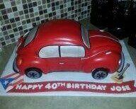 VW super beetle car cake - replica of customers car
