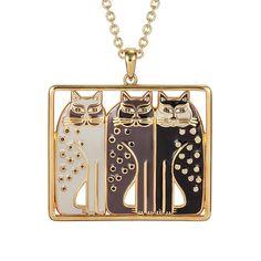 Amazon.com: Laurel Burch Siamese Cat Trio Cloisonne Pendant w/ Necklace: Jewelry $47.99