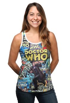 Doctor Who Comics Ladies' Tank Top