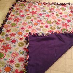 Tie fleece blanket...so easy to make!!