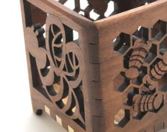 Items similar to Dragonfly and Cattails Wood Votive Candle Holder - Sustainable Harvest Wisconsin Wood . Timber Green Woods on Etsy Votive Candle Holders, Votive Candles, Motif Arabesque, Scroll Saw, Woodworking, Laser Cutting, Unique Jewelry, Wisconsin, Handmade Gifts