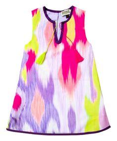 Another great find on #zulily! Petra Ikat Shift Dress - Toddler & Girls #zulilyfinds