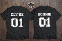 Bonnie 01 Clyde 01 Bonnie Clyde couples t shirt by Tees2peace