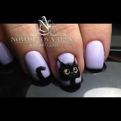 Simple Nail Art Designs That You Can Do Yourself – Your Beautiful Nails French Tip Nail Designs, Simple Nail Art Designs, Beautiful Nail Designs, Cat Nail Art, Cat Nails, Nail Swag, Fancy Nails, Trendy Nails, Art Simple