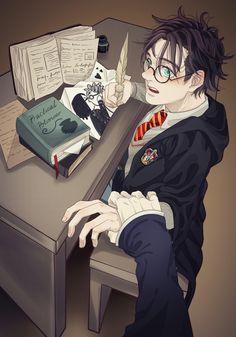 Harry Potter Animé, Harry Potter Severus Snape, Severus Rogue, Harry Potter Universal, Harry Potter Background, Desenhos Harry Potter, Harry Potter Pictures, Cute Anime Character, Naruto