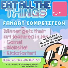 Reposting @eatallthe: It's the last week of our campaign so we are reopening the art competition! All entries will be featured in our art book and one lucky winner will get to have their art featured in game! www.eatallthe.com Tag your entries! . . . rt #illustration #drawing #draw #picture #photography #artist#artsy #instaart #beautiful #instagood #creative #photooftheday #instaartist #graphic #graphics #artoftheday #gamedev #gamedevelopment #unity #concept #nintendo #nintendoswitch #gamer