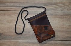 chestnut leaves with brown imitation leather