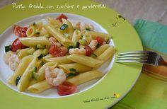 Pasta fredda con zucchine e gamberetti - Vorrei diventare una brava cuoca....