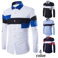 Type: Casual, Dress shirt Age Group: Adults, Teenagers Material: Cotton, Polyester Fabric Type: Broadcloth Gender: Men, Women Style: Long sleeve button up shi Long Sleeve Shirt Dress, Long Sleeve Shirts, Dress Shirts, Casual Shirts For Men, Men Casual, Foto Fashion, African Men Fashion, Mens Fashion, Cool Shirts