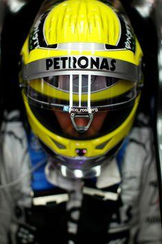 Closeup of Nico Rosberg - 2013 Spanish GP FP2