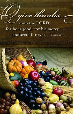 Psalm (NKJV) - Oh, give thanks to the Lord, for He is good!For His mercy endures forever. Happy Thanksgiving Everyone! Thanksgiving Blessings, Thanksgiving Quotes, Happy Thanksgiving, Thanksgiving Vegetables, Thanksgiving Wallpaper, Scripture Verses, Bible Scriptures, Bible Quotes, Biblical Quotes