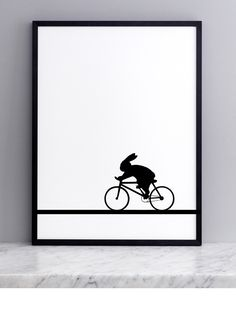Racing Bike Rabbit Screen Print