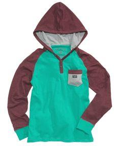 Epic Threads Kids Shirt, Boys Hooded Raglan Henley - Kids Shop All Boys - Macy's