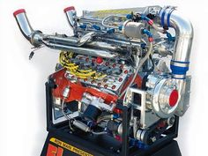 Full race flathead: top exhaust, fuel injection, centrifugal supercharger