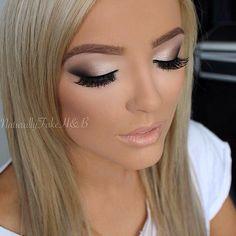 Evening wedding makeup