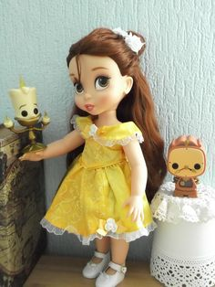 Disney Animators Belle Doll - with friends Lumière and Cogsworth