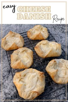 If you love cheese danishes this recipe is for you! We even tried it with raspberries mixed in! So delicious! Yummy dessert & breakfast pastry treats #bake #pastry #cheesedanish #danish Yummy Recipes, Baking Recipes, Yummy Food, Healthy Recipes, Breakfast Dessert, Dessert For Dinner, Puff Pastry Dough, Cheese Danish, Best Cheese